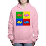 Pop Art Rabbit Women's Hooded Sweatshirt