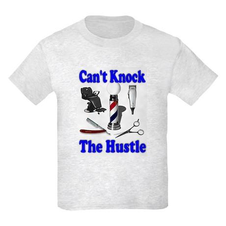 Cant Knock The Hustle-Blue Kids Light T-Shirt