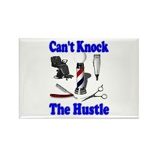 Cant Knock The Hustle-Blue Rectangle Magnet