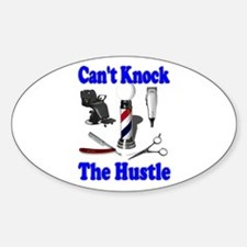 Cant Knock The Hustle-Blue Oval Decal