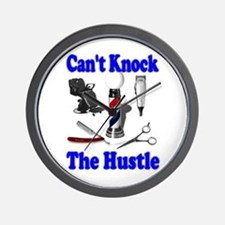 Cant Knock The Hustle-Blue Wall Clock