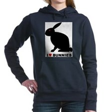 I Love Bunnies Women's Hooded Sweatshirt