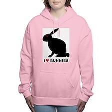 I Love Bunnies Women's Hooded Sweatshirt