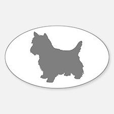 cairn terrier gray 2 Decal