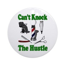Cant Knock The Hustle-Green Ornament (Round)