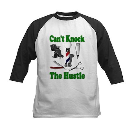 Cant Knock The Hustle-Green Kids Baseball Jersey