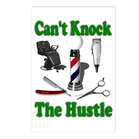Cant Knock The Hustle-Green Postcards (Package of