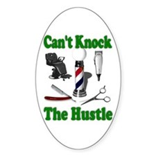 Cant Knock The Hustle-Green Oval Decal
