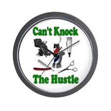 Cant Knock The Hustle-Green Wall Clock