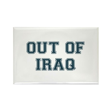 Out of Iraq Rectangle Magnet (100 pack)