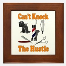Cant Knock The Hustle-orange Framed Tile