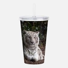 White Tiger Acrylic Double-wall Tumbler