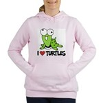 I Love Turtles Women's Hooded Sweatshirt