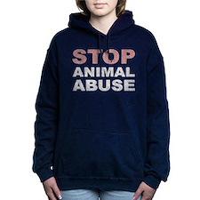 Stop Animal Abuse Women's Hooded Sweatshirt