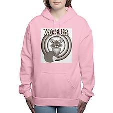 Retro No Fur Women's Hooded Sweatshirt