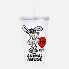 Stop Animal Abuse Acrylic Double-wall Tumbler