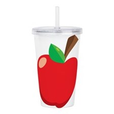 Apple Acrylic Double-wall Tumbler