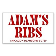 Adam's Ribs Rectangle Decal