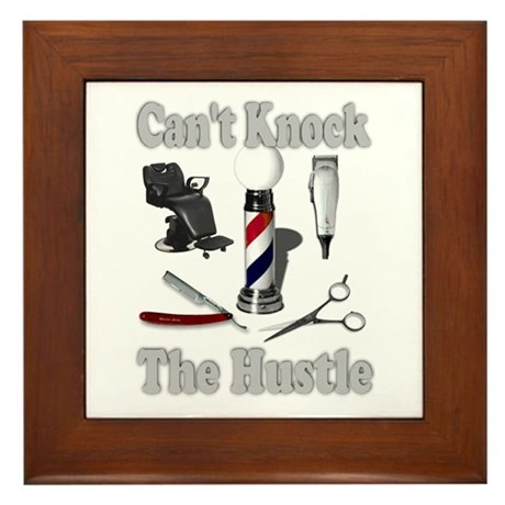 Cant Knock The Hustle-Grey Framed Tile