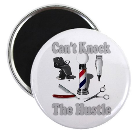 "Cant Knock The Hustle-Grey 2.25"" Magnet (10 pack)"