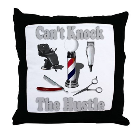 Cant Knock The Hustle-Grey Throw Pillow