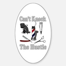 Cant Knock The Hustle-Grey Oval Decal