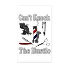 Cant Knock The Hustle-Grey Rectangle Decal
