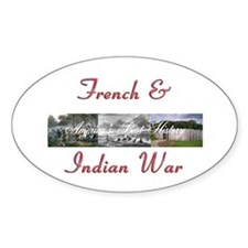 Abh French Indian War Sticker (oval)