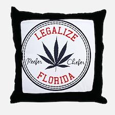 Legalize Florida Throw Pillow