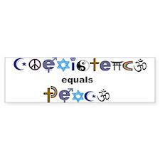 coexist=peace Bumper Bumper Bumper Sticker
