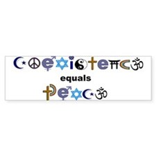 coexist=peace Bumper Car Sticker