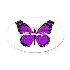Cute Fibromyalgia awareness Oval Car Magnet