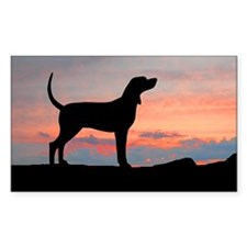 coonhound sunset wd5 Decal