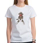 Sock Monkey Sitting Women's T-Shirt
