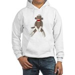 Sock Monkey Sitting Hooded Sweatshirt