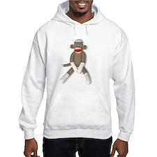 Sock Monkey Sitting Jumper Hoodie