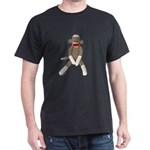 Sock Monkey Sitting Dark T-Shirt