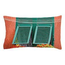 Cinque Terre. Colorful windows line th Pillow Case