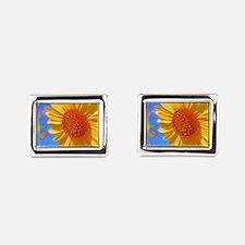 Wild Colors Sunflower Rectangular Cufflinks