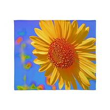 Wild Colors Sunflower Throw Blanket
