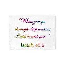 ISAIAH 43:2 5'x7'Area Rug