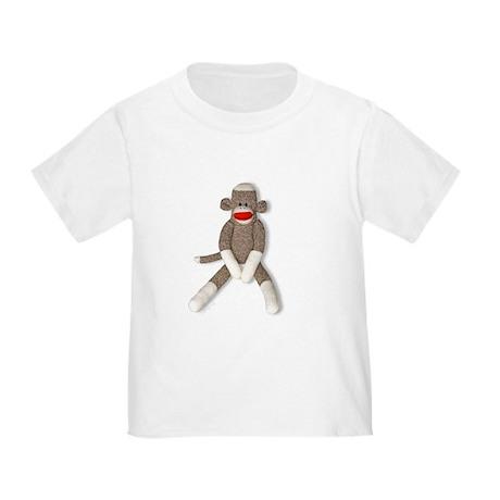 Sock Monkey Sitting Toddler T-Shirt