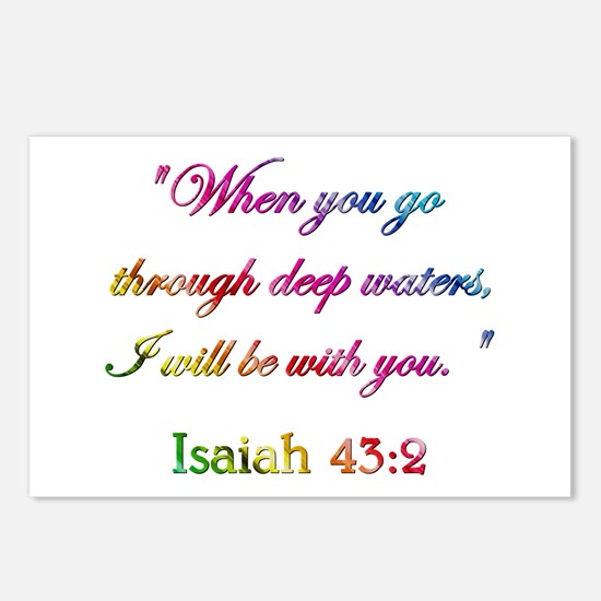 ISAIAH 43:2 Postcards (Package of 8)