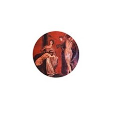 House of the Mysteries. Woman scourged Mini Button