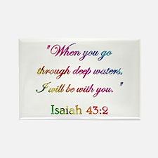 ISAIAH 43:2 Rectangle Magnet