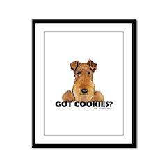 Irish Terrier Cookies Framed Panel Print
