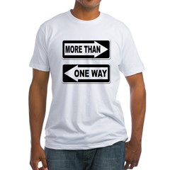 More Than One Way (Fitted USA T-Shirt)