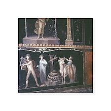 """Pompeii. Apollo slaying the Square Sticker 3"""" x 3"""""""