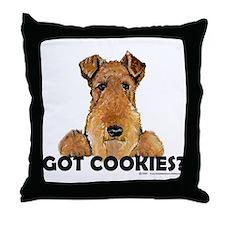 Irish Terrier Cookies Throw Pillow