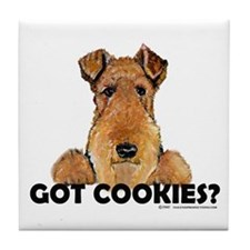 Irish Terrier Cookies Tile Coaster